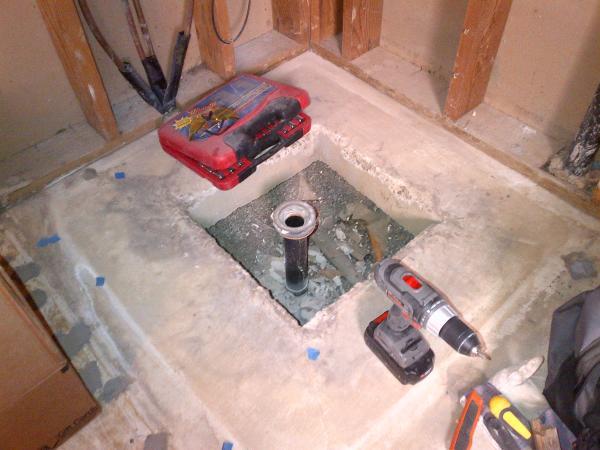 Shower Drain Concrete Slab Issue Doityourself