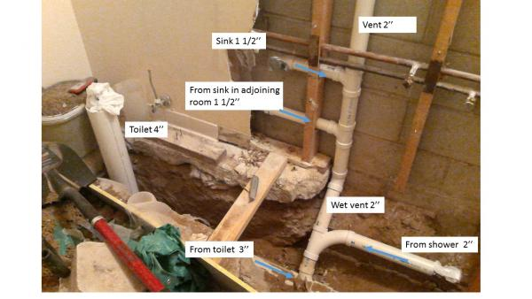 Diy basement bathroom plumbing