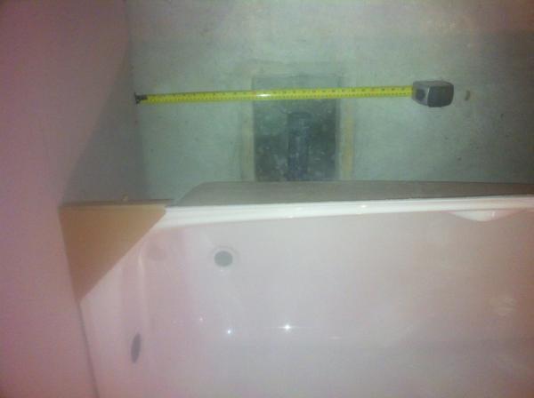 Attirant Basement Tub Install   Bad Drain Location??