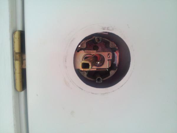 front door lockFront door lock stuck in locked position  how to fix