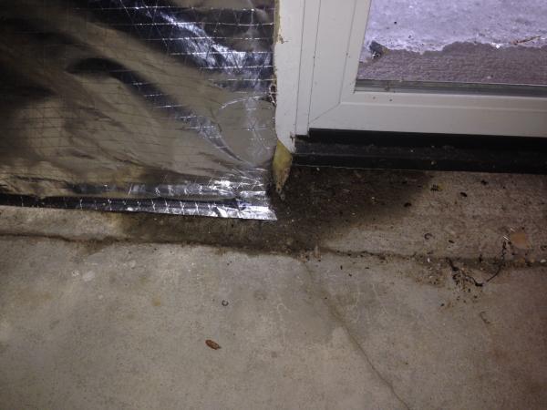 Water Around Sliding Glass Door In The Basement