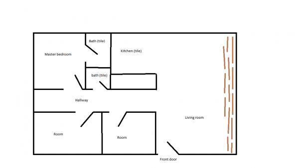 Laminate flooring laminate flooring hallway layout for Laminate floor planner
