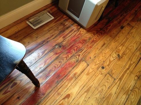 Help Identify Hardwood Floor Discoloration Spreading Doityourself Community Forums