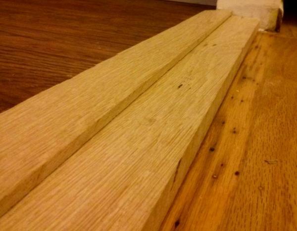 Transition Reducer Between Hardwood And Laminate