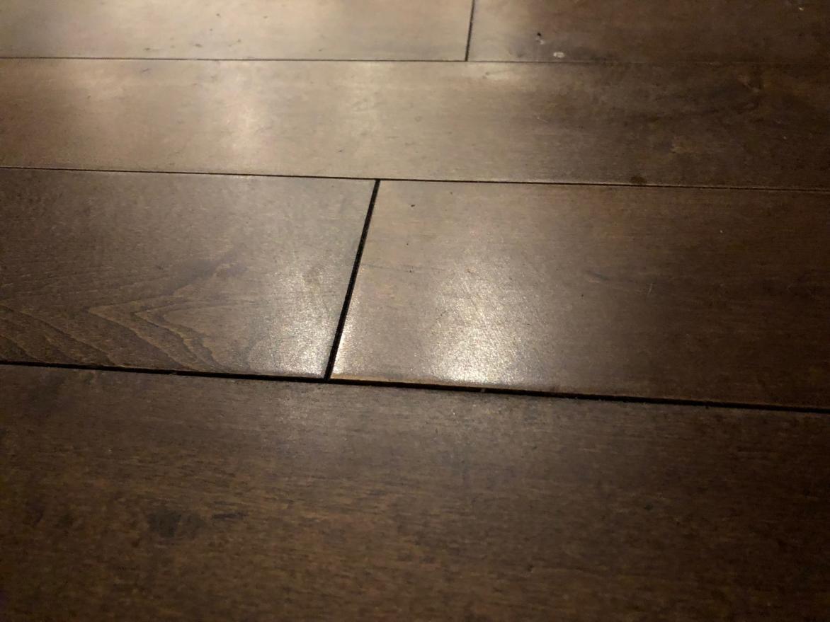 Hardwood Floor Crowning Caused By Water Leak Doityourself Com