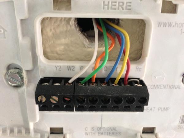 Install Honeywell Rth8580wf No A C Doityourself Com