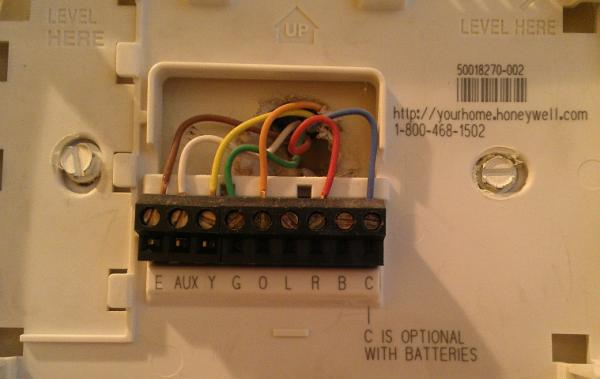 question regarding a honeywell thermostat  wiring the new