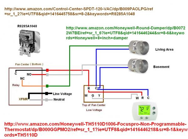 Wire    thermostat to    control    zone    damper      DoItYourself Community Forums