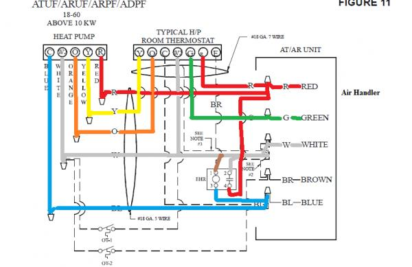 heat pump colored wiring diagrams wiring honeywell 7500 thermostat - no heat - doityourself ...