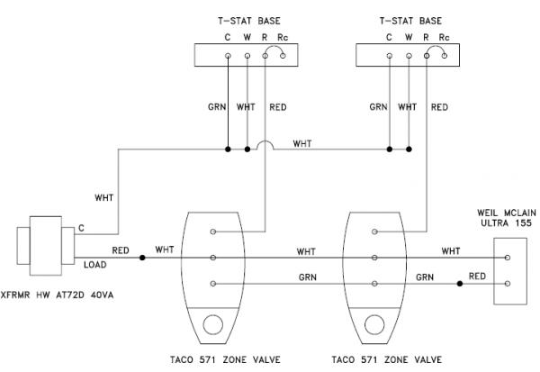 easy zone valve v8043e1012 wiring diagram wiring configuration - adding common with zone valves ... taco zone valve control wiring diagram