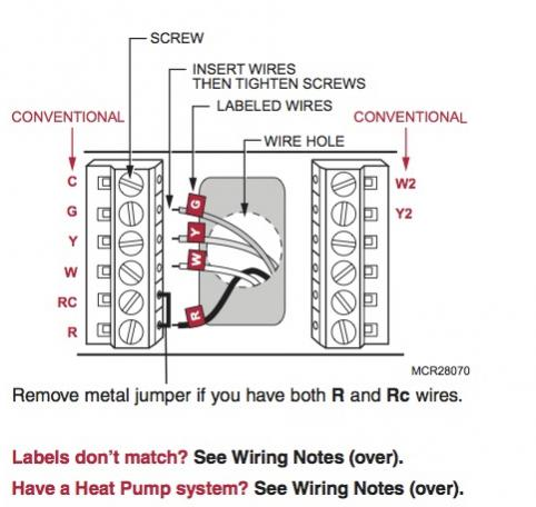 replacing honeywell ct3611 with rth7600d thermostat on nest heat pump wiring diagram #10