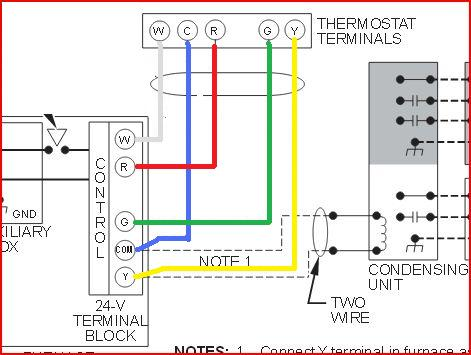 replacing carrier thermostat 960-120032-2 with honeywell ... thermostat wires on furnace control diagram