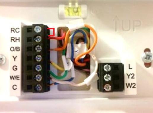 emerson sensi up500w installation issue doityourself com community rh doityourself com emerson sensi thermostat wiring emerson thermostat wiring