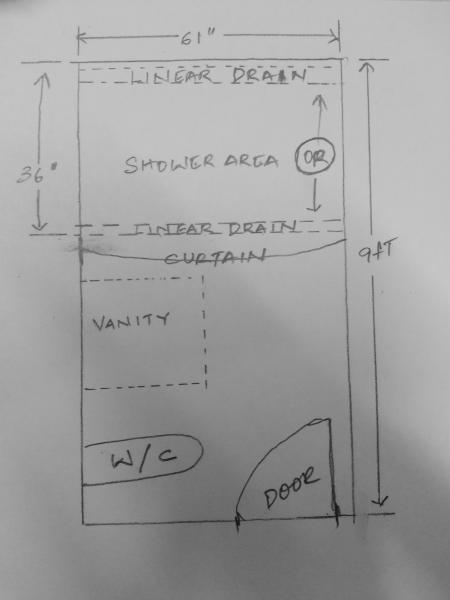 Installing A Linear Shower Drain Doityourself Com