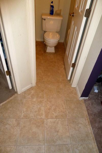linoleum tiles for bathroom flooring vinyl tiles in bathroom need 1 4 quot plywood or direct on 23705