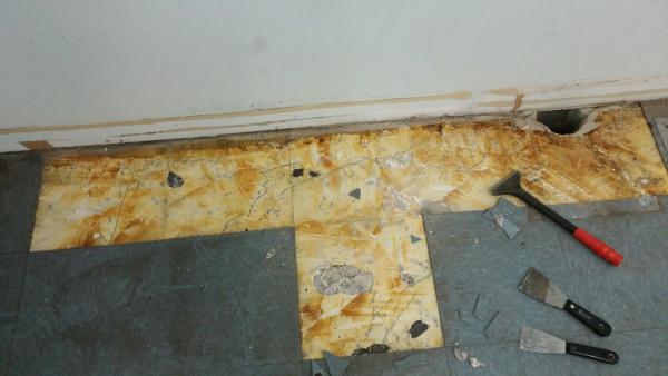 Vinyl Flooring Pulling Up Concrete Doityourself Com Community Forums