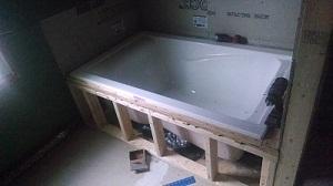 How To Tile An Undermount Tub In An Alcove Doityourself