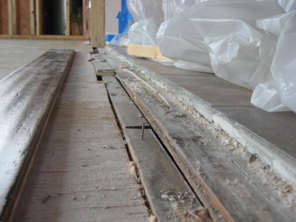 Uneven Tile To Wood Floor Transition Bathroom Furniture