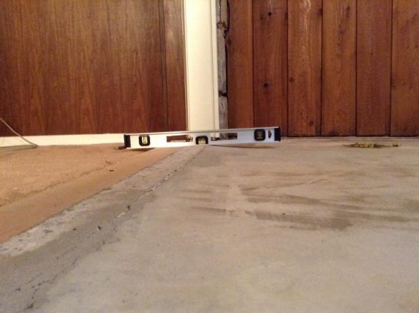 Osha Floor Elevation Change : Help large abrupt elevation change in floor
