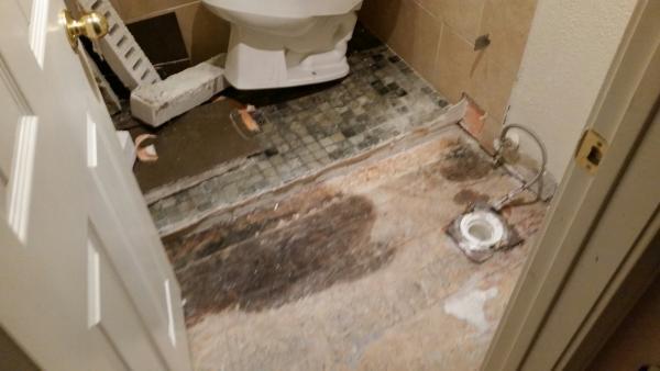 bathroom floor tile remodling help
