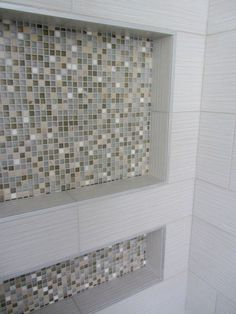 Removing Mosaic Tiles From Shower Niche Box