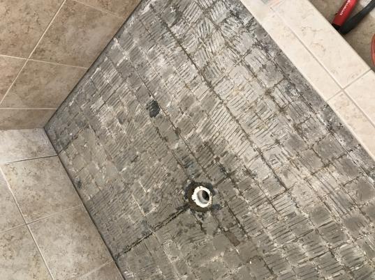 In Over My Head Replacing Shower Floor Tiles