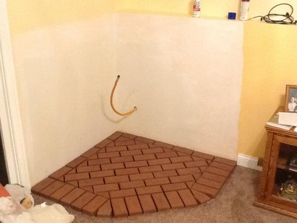 Brick veneer interior wall community forums for Interior brick veneer walls