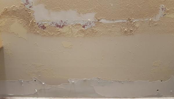 Paint Peeling Down To Drywall Doityourself Com