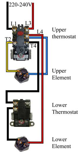 whirlpool hot water heater wiring diagram