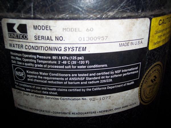 Kinetico Softener Amp Iron Filter Need Help Doityourself