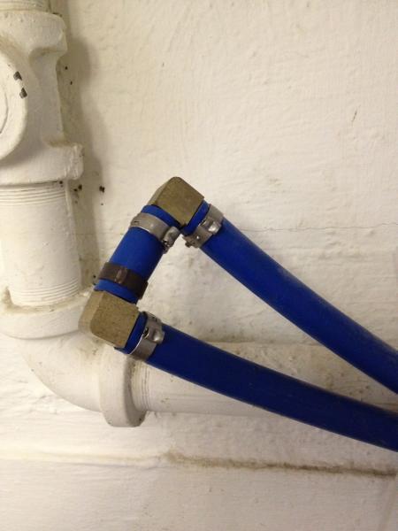 Hook up water softener