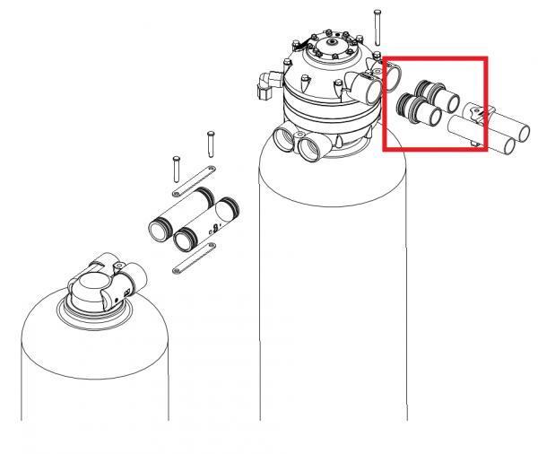 kinetico water softener hook up