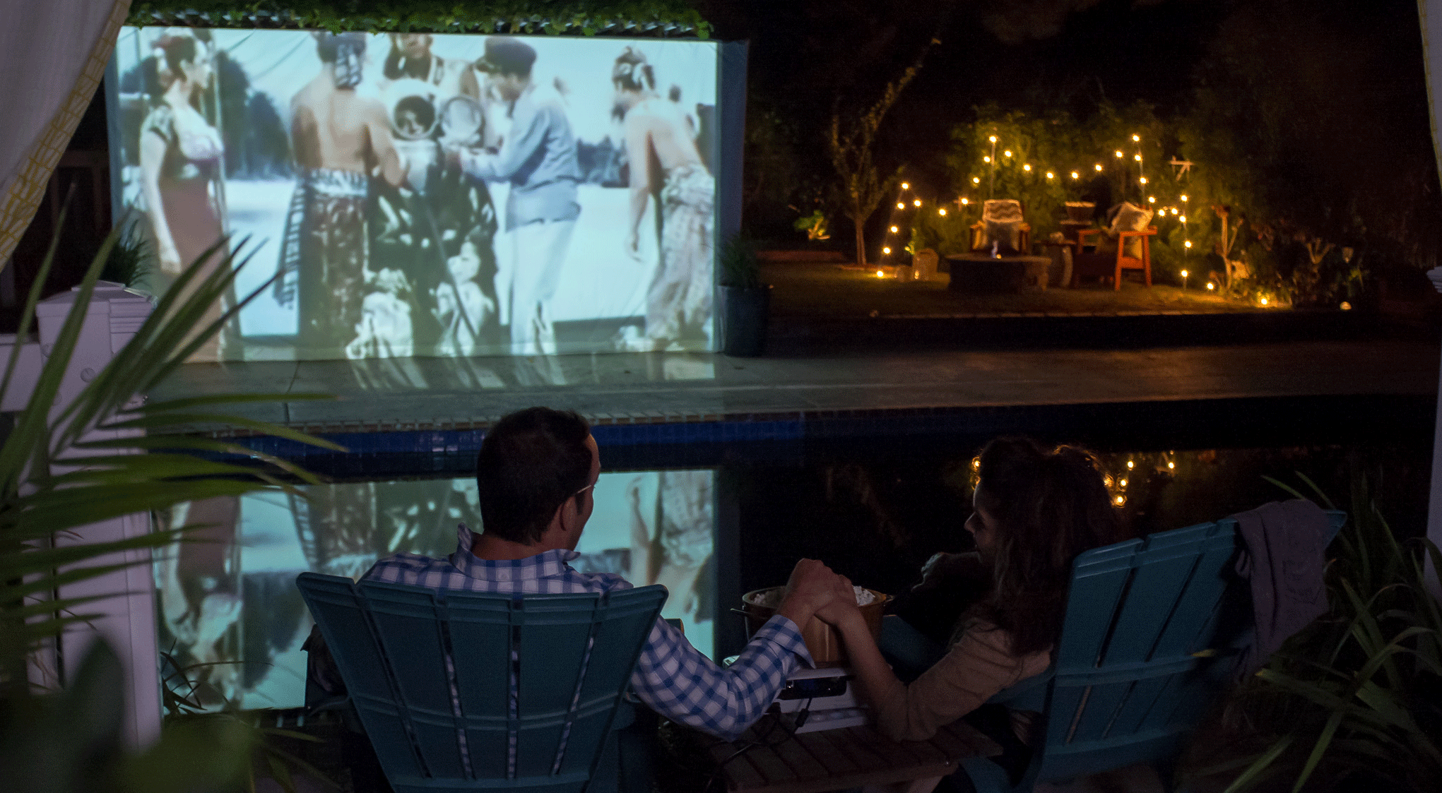 backyard projects make a movie screen for your backyard