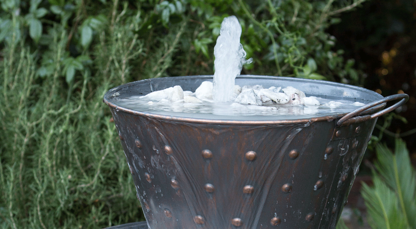 backyard projects whiskey barrel water feature doityourself com