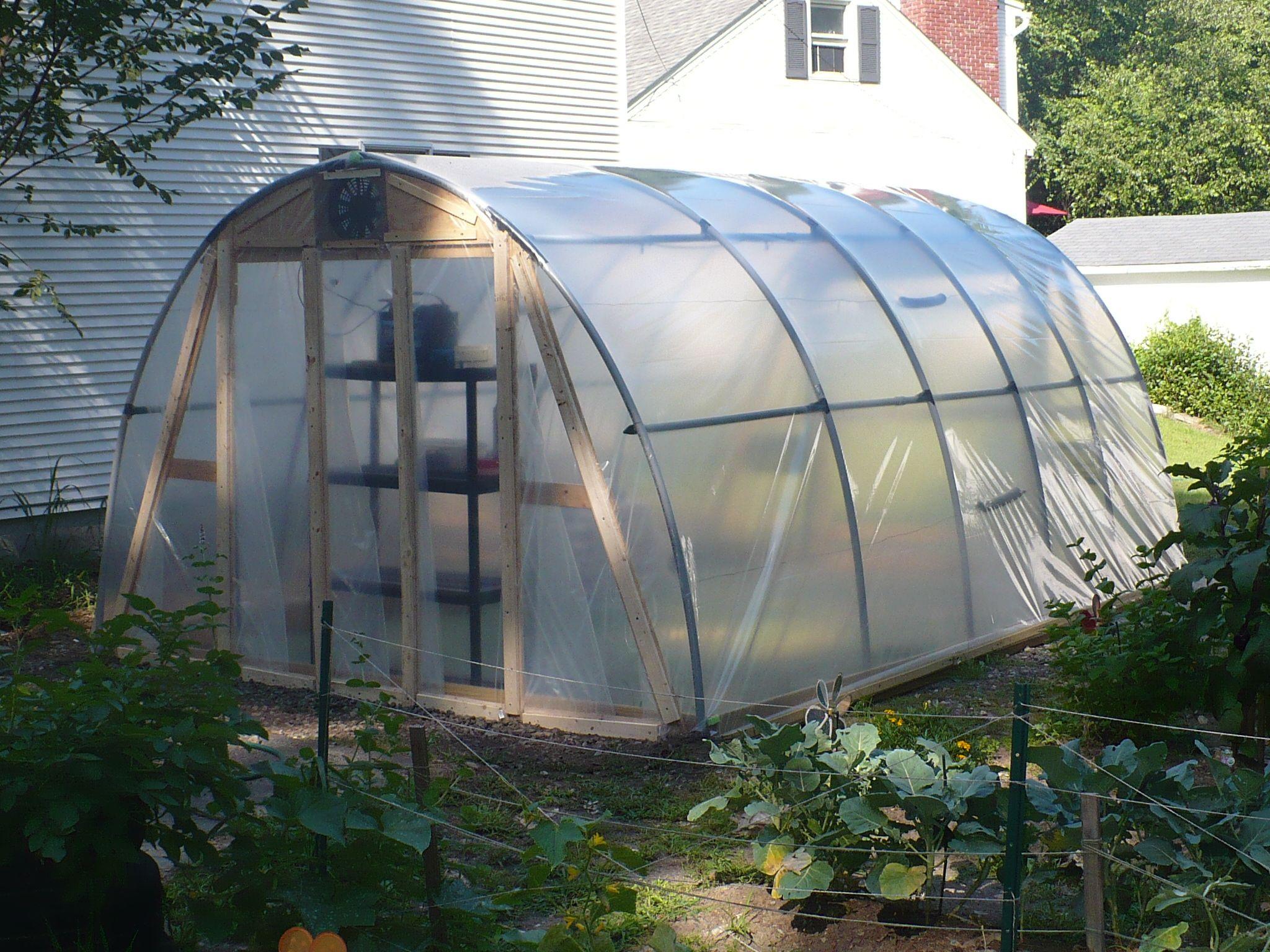 Solar Powered Hoop-style Greenhouse