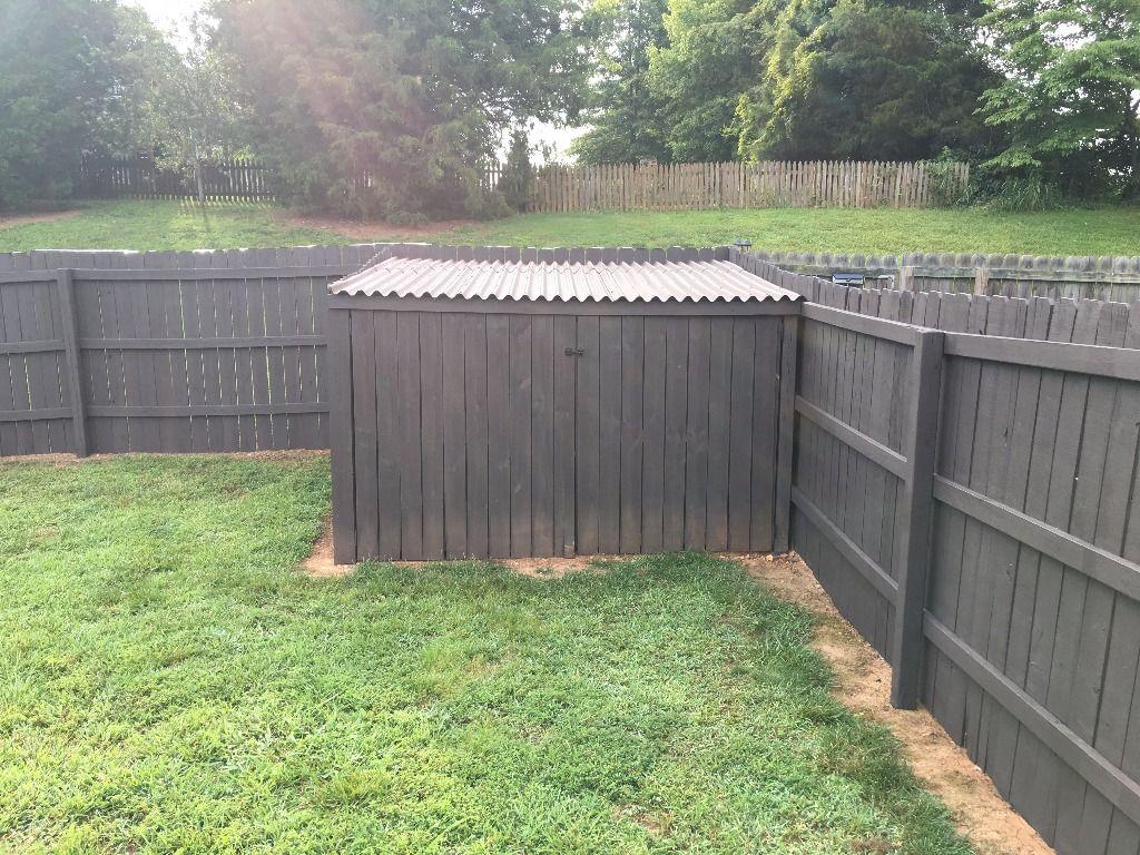 DIY Privacy Fence Corner Storage Shed | DoItYourself.com