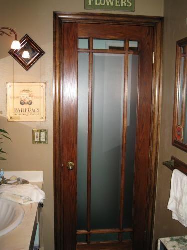 Frosted Glass Door