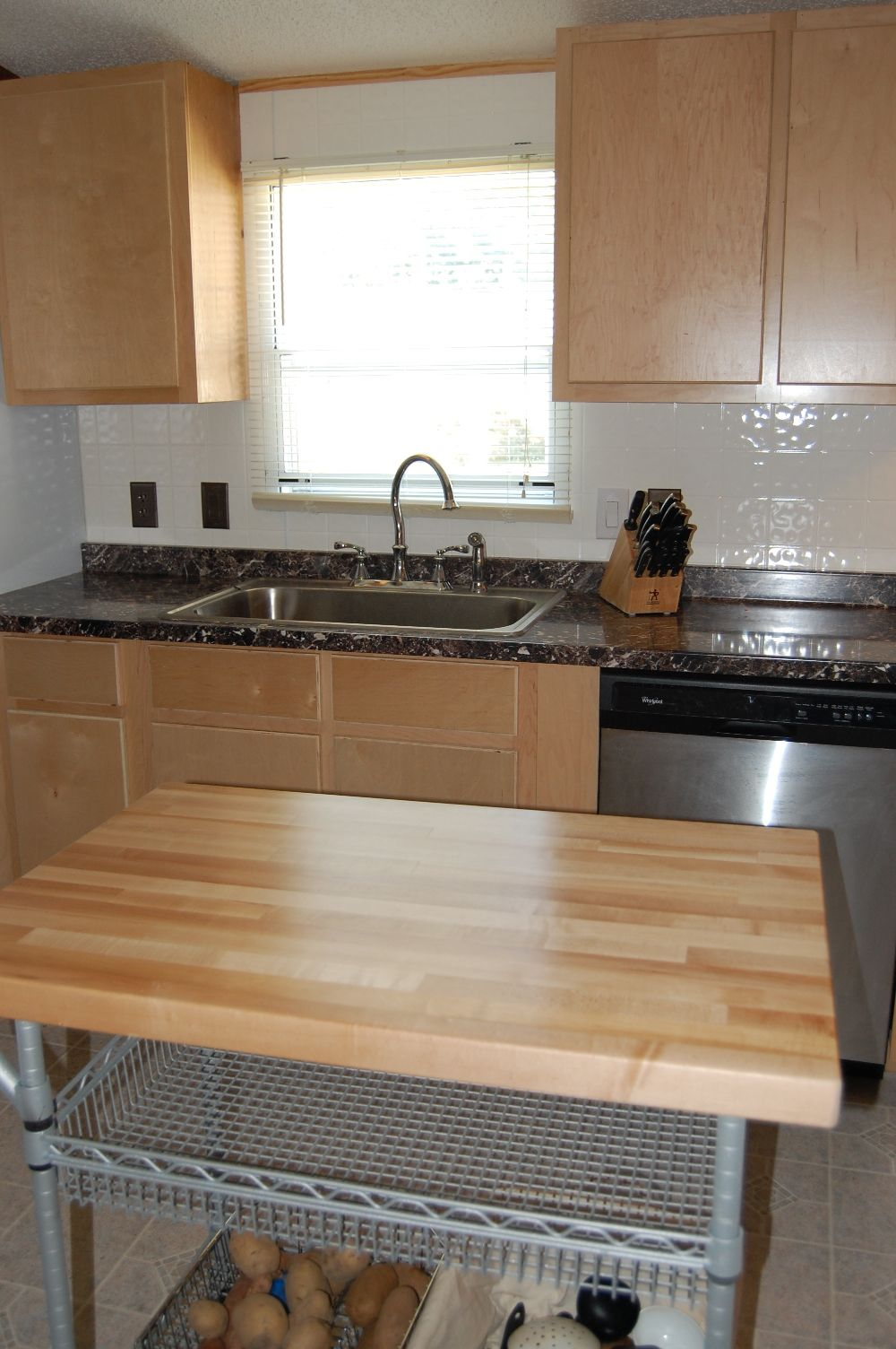 Mobile Home Kitchen Remodel, Birch Cabinets | DoItYourself.com